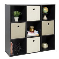 Product Image Best Choice Products 9 Cube Stackable Bookshelf Display Storage System Compartment Organizer W 3