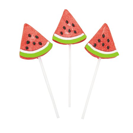 Watermelon Wedge Sucker Lollipops (1 dz) - Watermelon Suckers