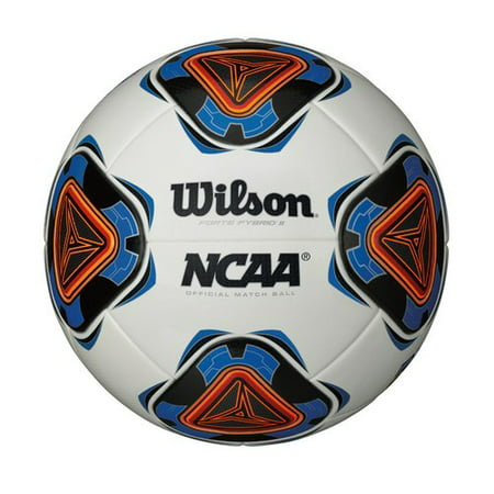 Wilson Forte Fybrid II Soccer Ball, Size 5, Blue and White
