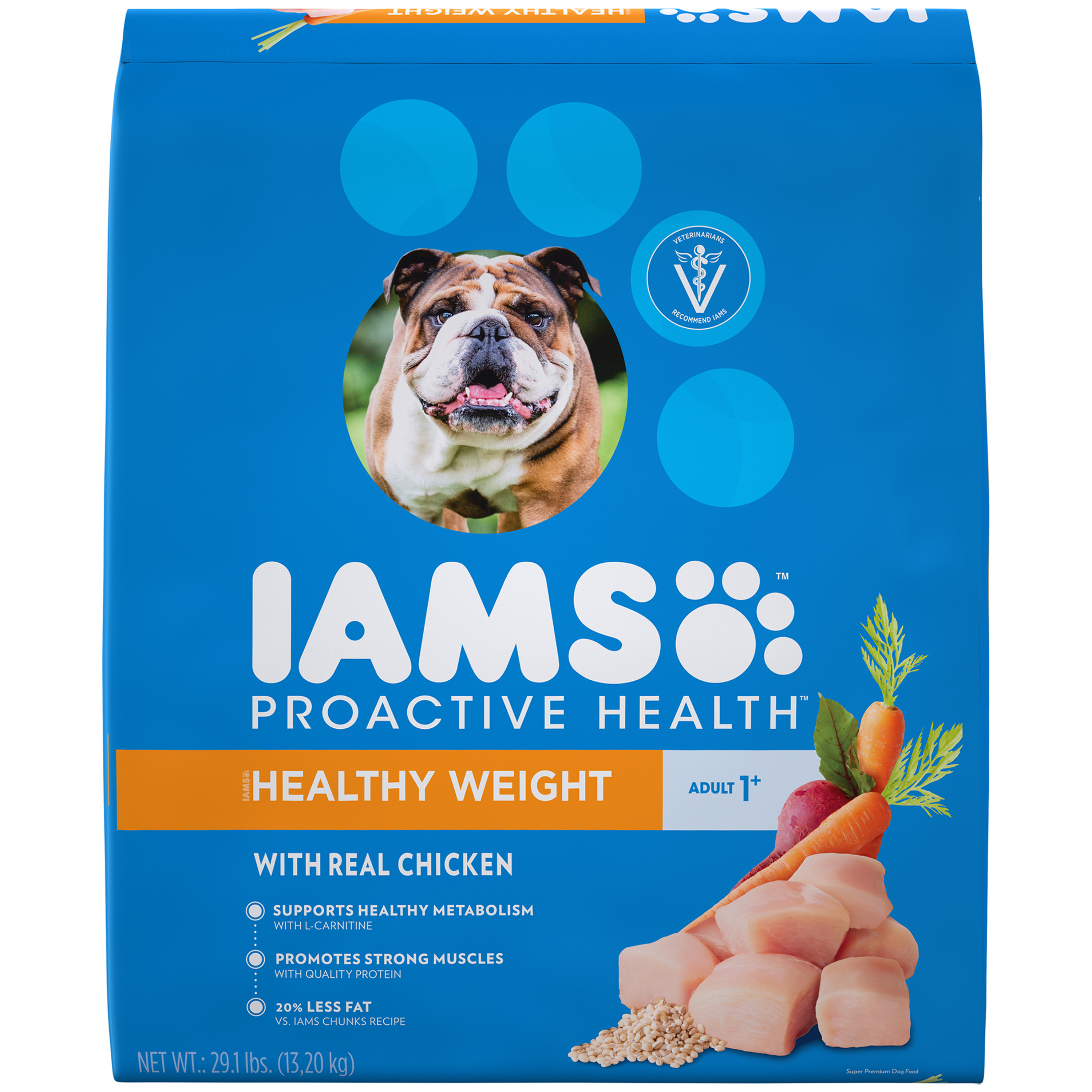 Iams Proactive Health Healthy Weight Dry Dog Food, Chicken, 29.1 Lb