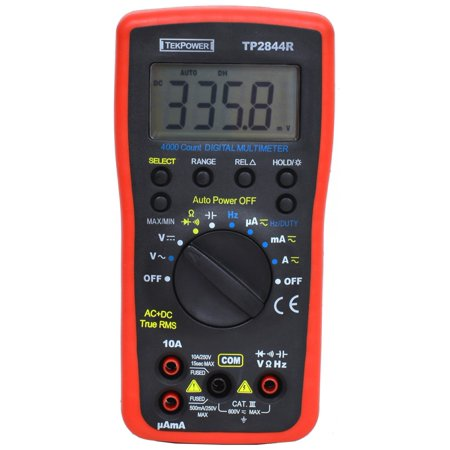 Tekpower TP2844R True RMS Auto-ranging Digital Multimeter With High Accuracy and (High Resolution Milliohm Meter)