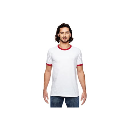 (Anvil Lightweight Ringer T-Shirt 988AN)