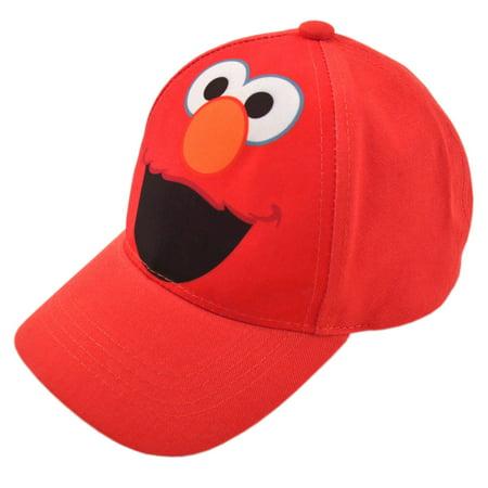 Toddler Baseball Hat for Boys, Elmo Red Kids Baseball Cap Age 2-4 (Toddler Hat For Boys)