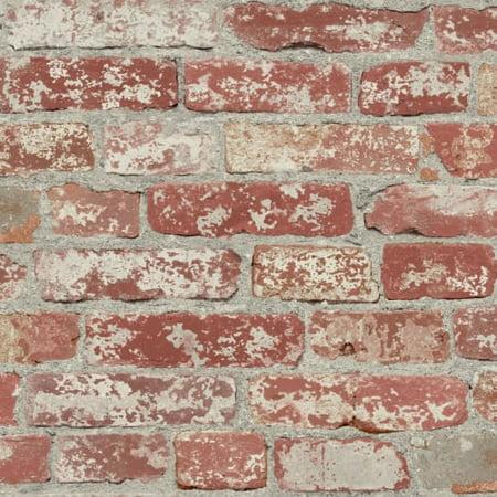 RoomMates Stuccoed Dark Red Brick Peel and Stick Wallpaper - Nightmare Before Christmas Halloween Wallpaper