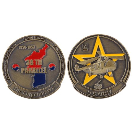TOPINCN 40*3mm US Army Weapon Pattern Commemorative Metal Bronze Coin Collection,US Army Coin, Bronze Coin - image 2 de 8