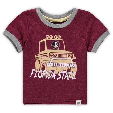 Florida State Seminoles Colosseum Newborn & Infant Mud Flap Ringer T-Shirt - Garnet