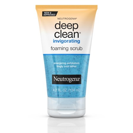 Neutrogena Deep Clean Invigorating Foaming Face Scrub, 4.2 fl. (Best Face Exfoliator For Acne)