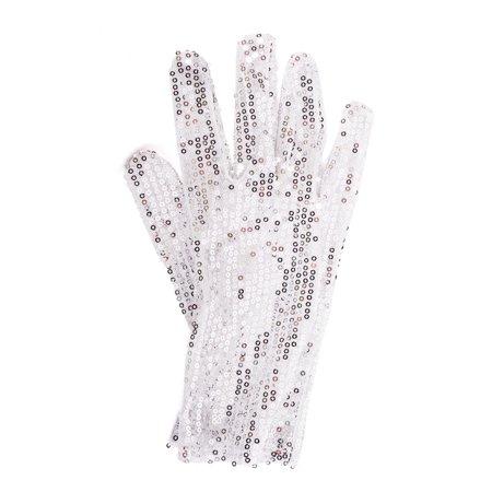 Dozen Michael Jackson White Silver Glitter Sequin Glove Costume Accessory