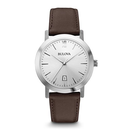 - Bulova Men's Brown Leather Strap Watch