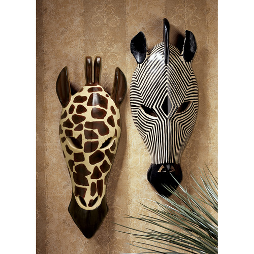 Design Toscano Tribal-Style Animal Wall D cor (Set of 2)