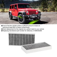 FAGINEY 2PCS Car Cabin Air Filter 55111302AA,68233626AA for Jeep Wrangler 3.6L 2.8 3.8 3.6 V6, Dust Air Filter, Cabin Air Filter