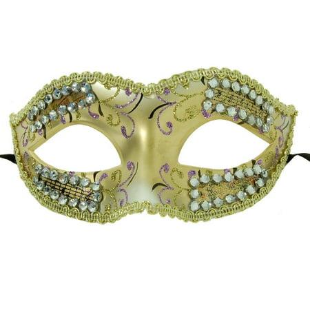 Petites Sorcieres Halloween (Petite Eye Costume Mask Gold/Violet One)