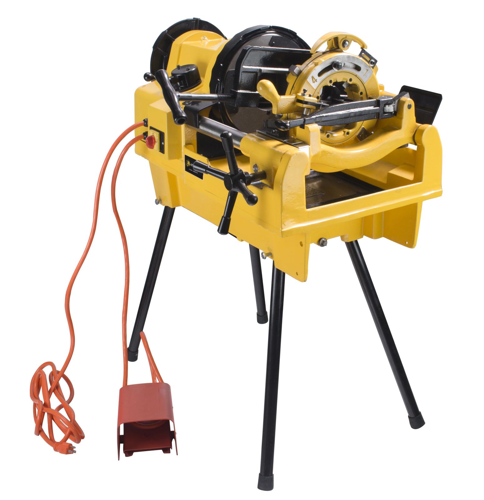 Steel Dragon Tools® 1224 Power Pipe Threader Threading Machine fits RIDGID ® 26092 Dies and 711 714 Die Heads