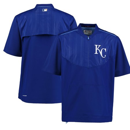 Kansas City Royals Majestic On-Field Training Half Zip Pullover Cool Base Jacket - (Majestic Trainer Jacket)