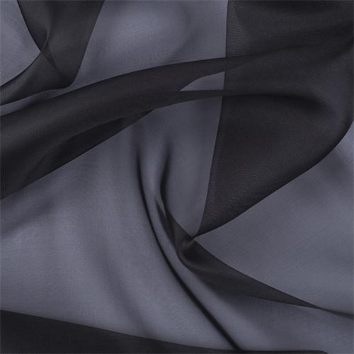Dark Gray Silk Organza, Fabric By the Yard
