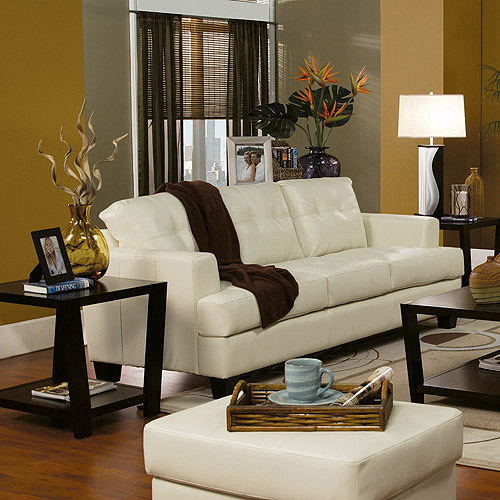 Coaster Samuel Bonded Leather Sofa, Multiple Colors by Generic