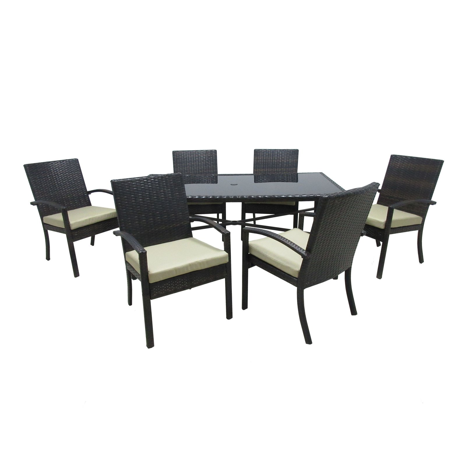Outdoor Innovation Chelsea Aluminum 7 Piece Rectangular Patio Dining Room Set by Overstock