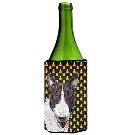 Bull Terrier Halloween Candy Corn Wine Bottle   Hugger - image 1 de 1
