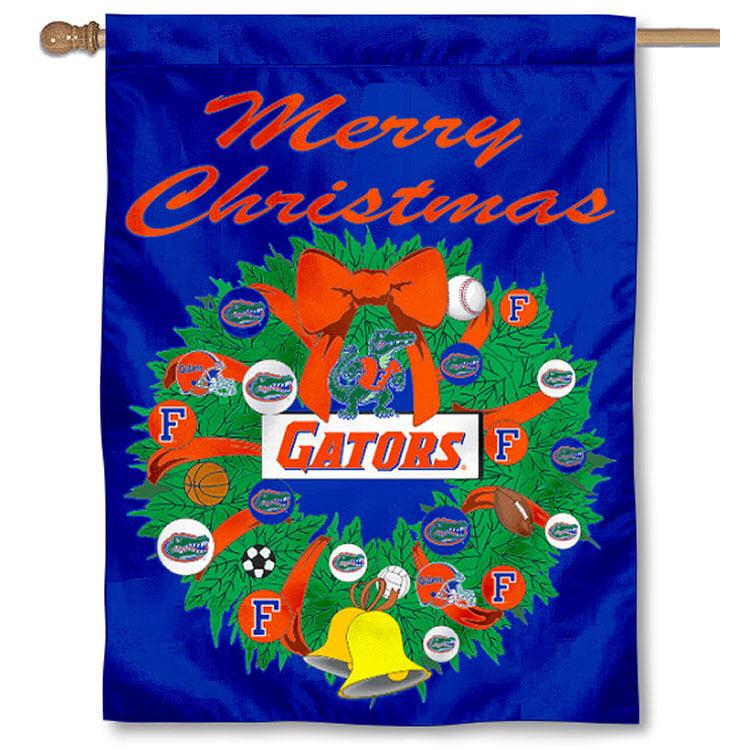 university of florida gators merry christmas banner flag