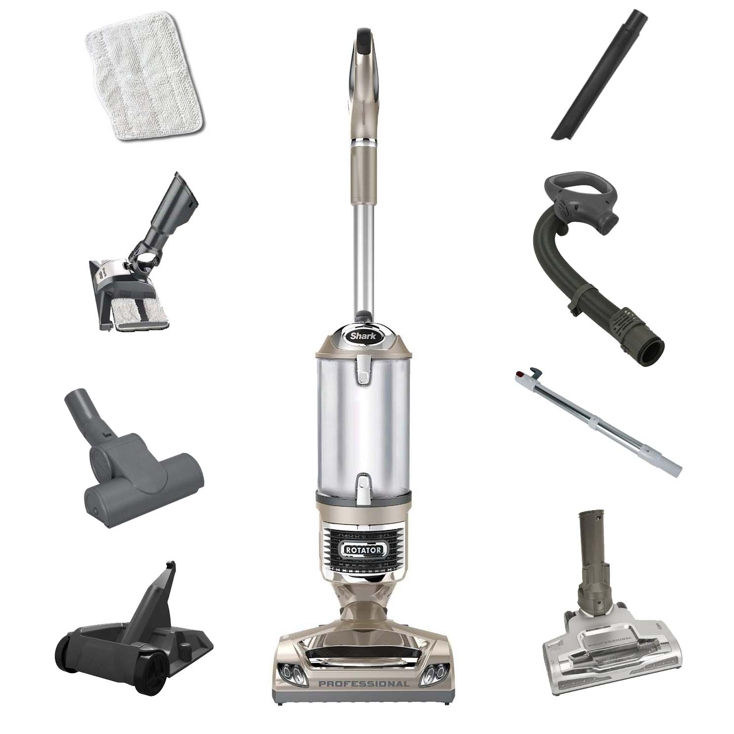 Shark Rotator Pro  Complete (NV552) Anti-Allergen Lift-Away 3-in1 Vacuum, Quiet [Refurbished]