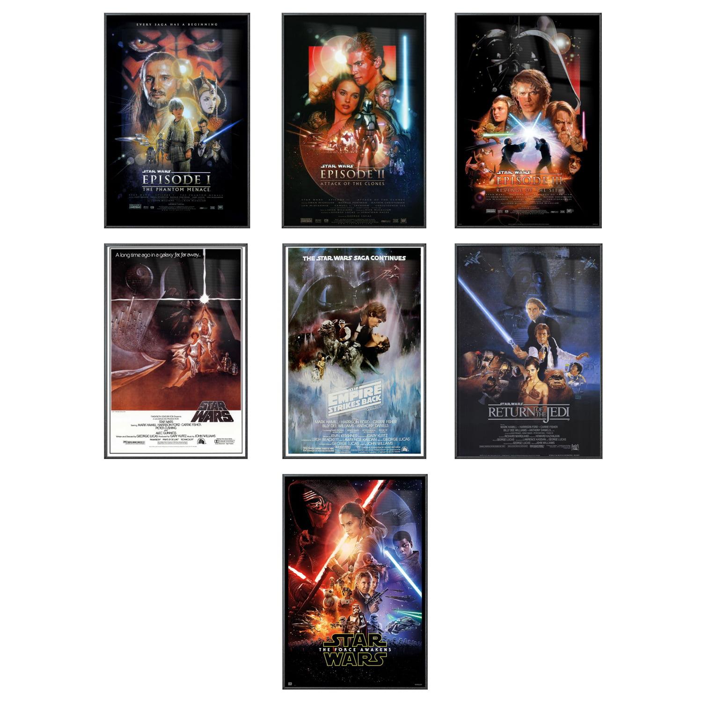 "Star Wars: Episode I, II, III, IV, V, VI & VII - 7 Piece Movie Poster / Print Set (Regular Style Designs) (Size: 27"" x 40"" each)"