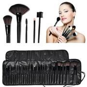 Vetroo Professional 32pcs Makeup Make Up Cosmetic Brushes Set Kit Tools Pro Foundation Eyeshadow Eyeliner Superior Soft with PU Leather Case Pouch