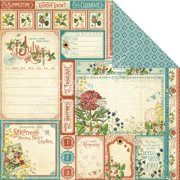 """Time To Flourish Double-Sided Cardstock 12""""X12""""-July Cut Apart"""