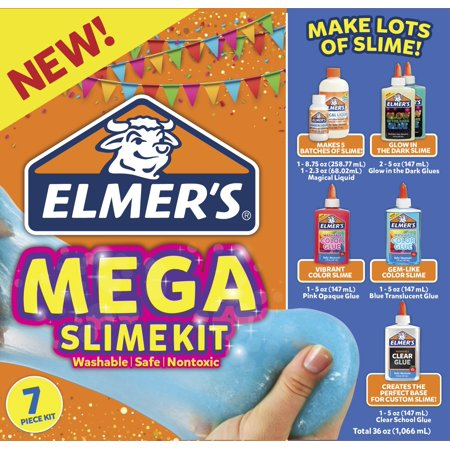 Elmers Brand Mega Slime Kit: Make Glow In The Dark, Color, and Clear - Glow In The Dark Sweet 16 Ideas