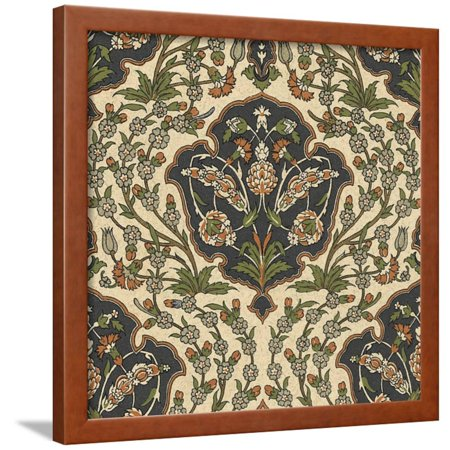 Persian Tile III Framed Print Wall Art - Walmart.com