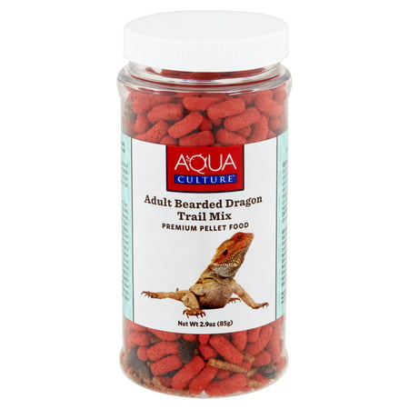 Aqua Culture Adult Bearded Dragon Trail Mix Premium Pellet Food, 2.9 Oz