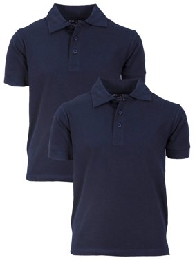 02dd59a5a8 Product Image Beverly Hills Polo Club Boy's Uniform 2 Pack Short Sleeve  Cotton Jersey Polo