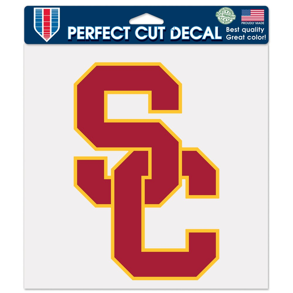 USC Trojans Official NCAA 8 inch x 8 inch  Die Cut Car Decal by Wincraft