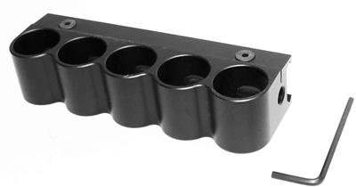 Aluminum 5 Round 12 Gauge Shotshell Shotgun Shell Holder Mount by TRINITY SUPPLY INC
