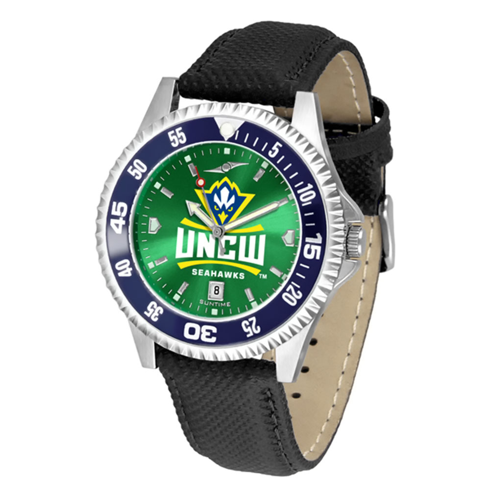 "North Carolina Wilmington Seahawks NCAA Anochrome ""Competitor"" Men's Watch (Color Bezel)"