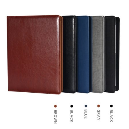 4 Colors A4 Leather Folder Document Organiser Business Portfolio Case Conference File with (Leather File Case)