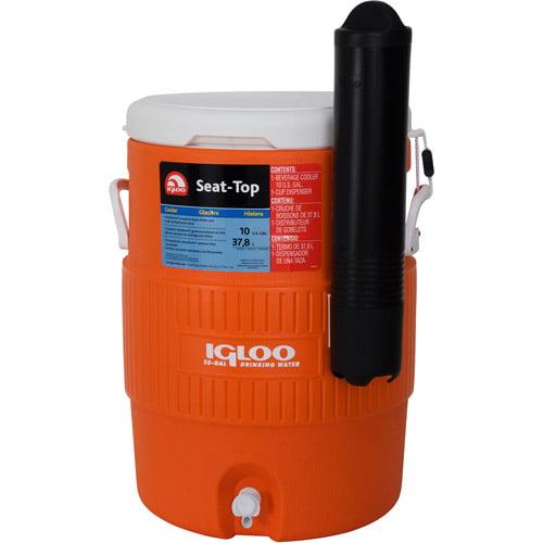 Igloo Beverage Jug - Orange and White, 10-Gallon