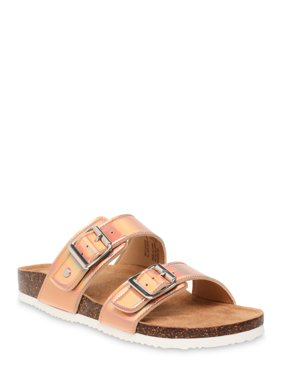 Women's Time and Tru Footbed Slide