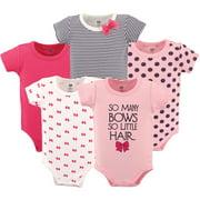Hudson Baby Short Sleeve Bodysuits, 5pk (Baby Girls)