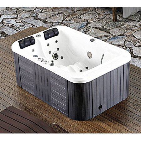 Symbolic Spas 2 Person Hot Tub Spa Outdoor Hydrotherapy Double Lounger Insulated Hard Cover - 220-240 Volt/40 Amp - 31 Jets - 1.5 HP Pump - 3KW Heater -