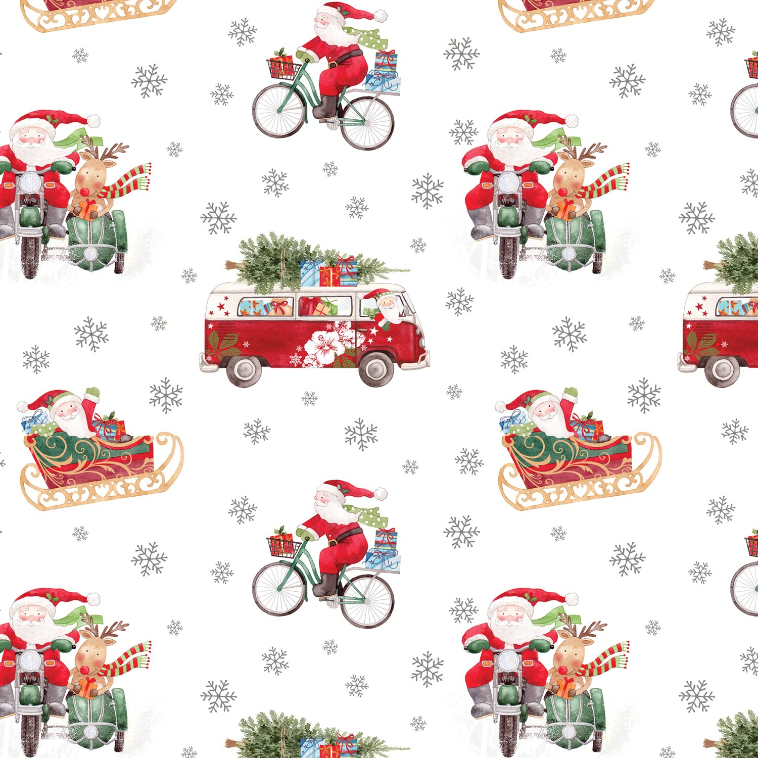 Jillson & Roberts Gift Wrap, Out For Delivery (8 Rolls 5ft x 30in)