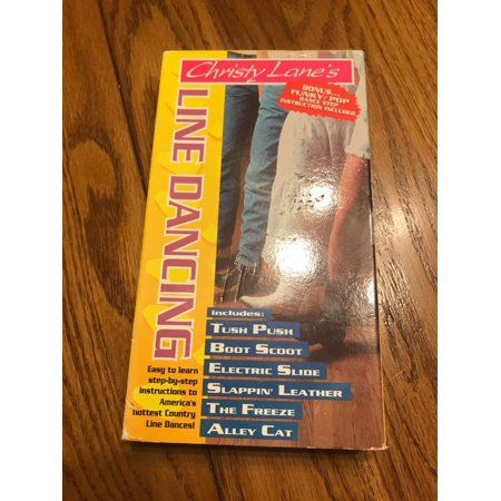 Christy Lanes Line Dancing VHS 1992 BONUS FUNKY/POP INSTRUCTION