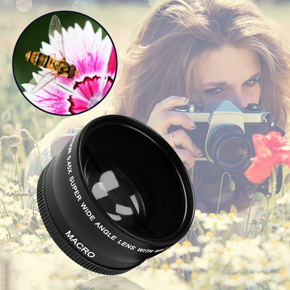 HD 0.45x0.45 Super Wide Angle Lens with Macro Optical Lens Camera Lens Kit