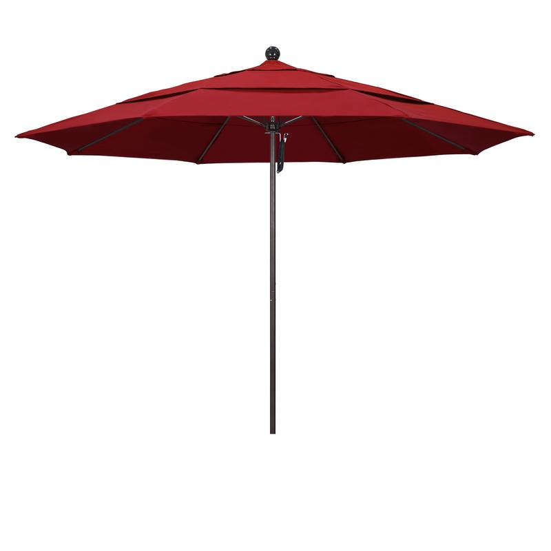 California Umbrella Venture Series Patio Market Umbrella in Olefin with Aluminum Pole... by California Umbrella
