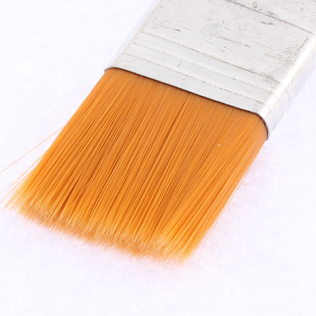 Artist Wooden Handle Oil Paint Painting Brushes 25mm x 23mm Bristles Head 5 Pcs - image 1 of 2