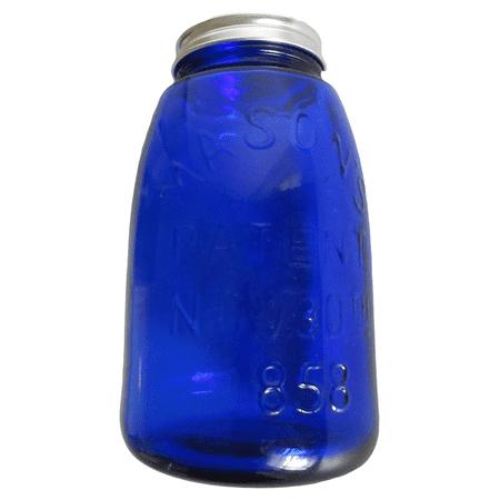 - Cobalt Blue Glass Mason's Jar