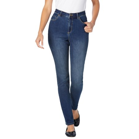 Woman Within Women's Plus Size Perfect Straight Leg Jean Jean