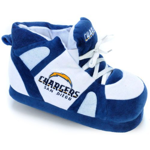 Comfy Feet NFL Sneaker Boot Slippers - San Diego Chargers