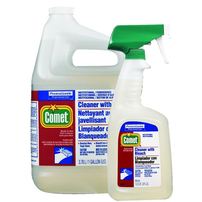 Procter & Gamble 608-02287 Comet Cleaner W-Bleach 32Oz Btl W-Foil Seal