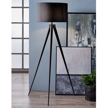 Versanora - Romanza Tripod Floor Lamp with Black Shade