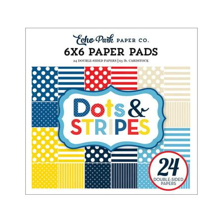 Echo Park Dots&Stripes Summer Paper Pad 6x6